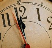 Orologio di oro Immagine Stock