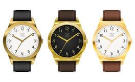 Orologio di oro Fotografia Stock