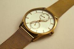 Orologio di oro Immagini Stock