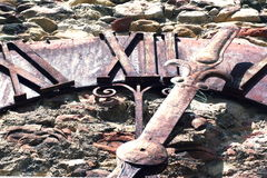 Orologio di parete antico Immagine Stock Libera da Diritti