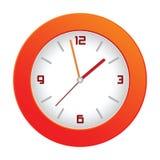 Orologio di parete arancione Immagini Stock