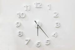 Orologio di parete bianco fotografia stock