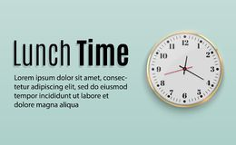 Orologio di parete dell'ufficio Progettazione del modello in grande Una disposizione per marcare a caldo e la pubblicità dell'iso royalty illustrazione gratis