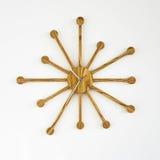 Orologio di parete di legno del progettista Fotografie Stock