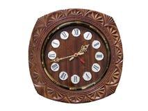 Orologio di parete di legno rotondo Immagine Stock