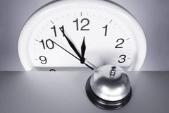 Orologio di parete e chiamata Bell Fotografia Stock Libera da Diritti