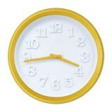 Orologio di parete giallo Immagine Stock