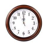 Orologio di parete - percorso fotografia stock libera da diritti