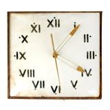 Orologio di parete polveroso dell'annata Fotografie Stock