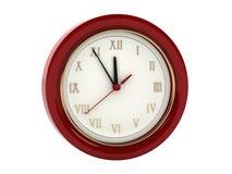 Orologio di parete rosso illustrazione vettoriale