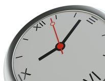 Orologio di parete rotondo d'argento classico realistico Fotografia Stock