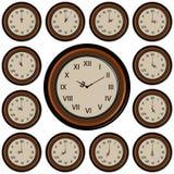 Orologio di parete rotondo stabilito Immagini Stock