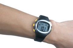 Orologio di sport e sensore di impulso Fotografia Stock