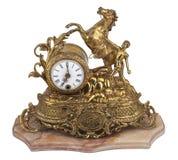 Orologio di tabella dell'annata Fotografie Stock