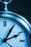 Orologio di tempo blu Fotografia Stock Libera da Diritti