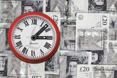 Orologio di tempo di affari Immagini Stock