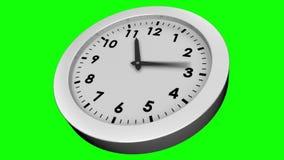 Orologio di ticchettio su fondo verde video d archivio