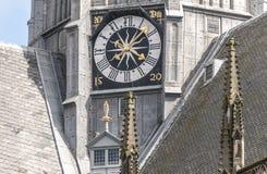 Orologio di una cattedrale olandese fotografia stock libera da diritti