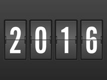 Orologio 2016 di vibrazione Fotografia Stock