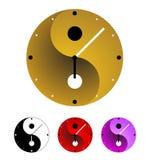 Orologio di Yin yang Immagini Stock