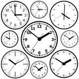 Orologio digitale fissato al muro Fotografia Stock