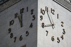 Orologio doppio Fotografia Stock