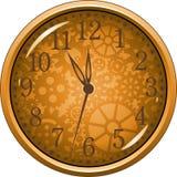 Orologio dorato illustrazione vettoriale