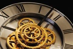 Orologio dorato Immagine Stock