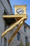 Orologio dorato Fotografia Stock Libera da Diritti
