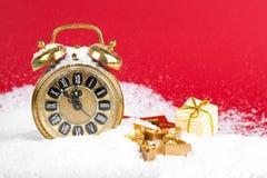 Orologio dorato antico Immagine Stock