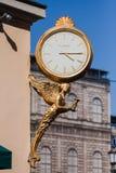Orologio dorato Monaco di Baviera Germania Fotografie Stock