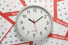 Orologio e calendari Immagini Stock