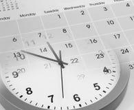 Orologio e calendario Fotografia Stock