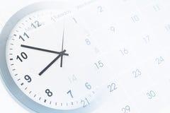 Orologio e calendario immagini stock