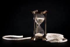 Orologio e corda della sabbia Fotografia Stock Libera da Diritti
