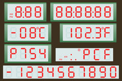 Orologio e termometro elettronici del tabellone segnapunti Immagine Stock