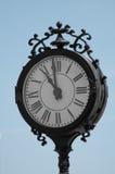 Orologio elegante arrotondato dei bordi neri Immagine Stock Libera da Diritti