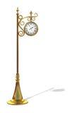 Orologio esterno dell'oro Immagini Stock Libere da Diritti