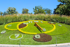 Orologio famoso del fiore, Ginevra, Svizzera Questo capolavoro dell'AR Immagini Stock