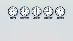 Orologio - fasce orarie royalty illustrazione gratis