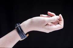 Orologio femminile della mano Immagine Stock Libera da Diritti