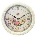 Orologio floreale Fotografia Stock