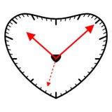 Orologio a forma di del cuore illustrazione vettoriale
