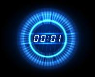 Orologio futuristico di conto alla rovescia illustrazione di stock