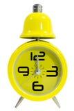 Orologio giallo Fotografia Stock