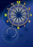Orologio grafico Fotografia Stock
