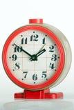 Orologio grigio del briciolo rosso vecchio Fotografia Stock