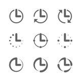 Orologio, icone di tempo royalty illustrazione gratis