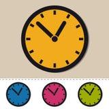 Orologio - icone variopinte editabili di vettore - isolato su bianco Immagine Stock Libera da Diritti