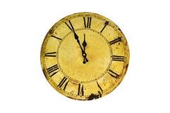 Orologio isolato dell'annata Fotografia Stock Libera da Diritti